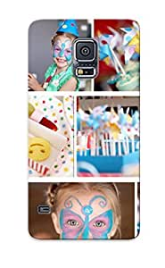 Clear Premium Tpu Children Birt Ay Party Location Let Party Cover Skin Blue Series For Galaxy S5