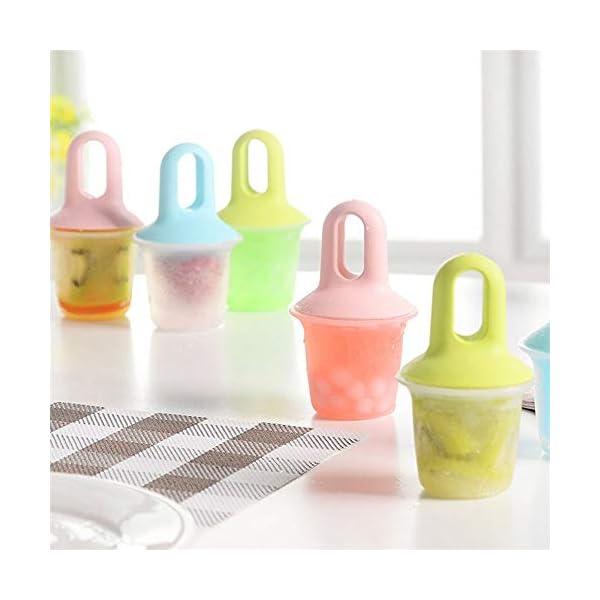 Stampi Ice Lolly Stampi per ghiacciolo e Gelato Commestibile Freddo Regalo impilabile per pappe per congelatore Pink 5 spesavip
