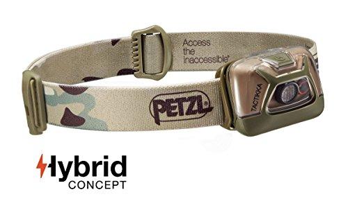 PETZL - TACTIKKA Headlamp, 200 lumens, Ultra-Compact Headlamp, Camo ()