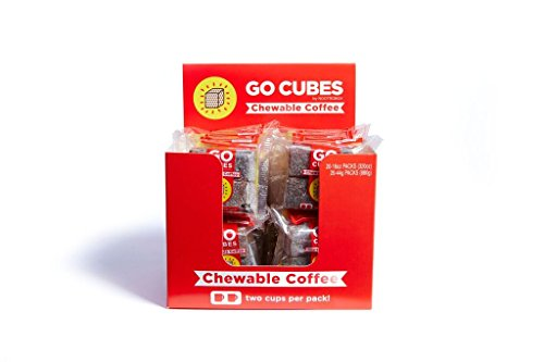GO CUBES Energy Chews, Duo Latte and Mocha Flavors, 4 count chews (20 Pack) by HVMN