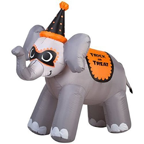 3.5' X 3.5, Airblown Inflatable, Easy Outdoor Setup Trick Or Treat Elephant Halloween (Fun And Easy Halloween Decorations)