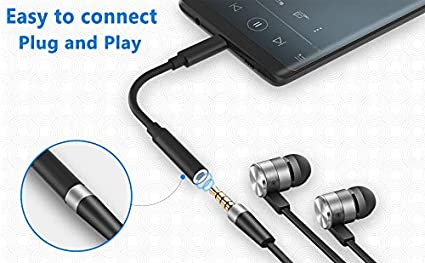 USB-C to 3.5 mm Headphone Jack Adapter USB C to 3.5,mm AUX Adapter 3.5mm Aux Audio Dongle Jack Cable Compatible with Pixel 3//2//3XL//2XL Huawei and More USB C Devices-Black One Plus 6T iPad Pro 2018
