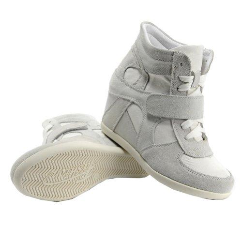 Fibbia In Lavoro Donna Cima Grigio Cuneo Lacci Informale Zeppa Rismart Sneaker Scarpe xX68ZqnwpX