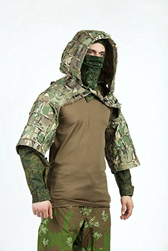 Ghillie Sniper Costume (Ghillie Suit by GearCraft | Russian Sniper Coats / Viper Hoods (Multicam))