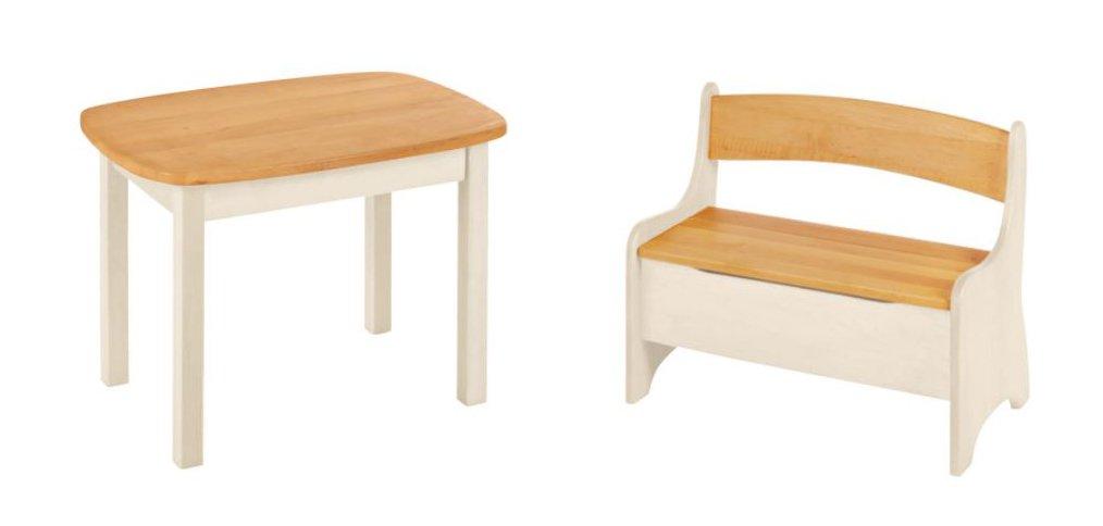 BioKinder 24787 Levin Spar-Set Kindertisch mit Kindersitzbank aus Massivholz