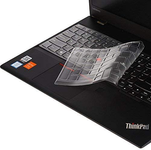 Ultra Thin Soft-Touch Keyboard Cover Compatible ThinkPad P51S P52 P52S T570 T580 E580 E585 E590 Laptop White