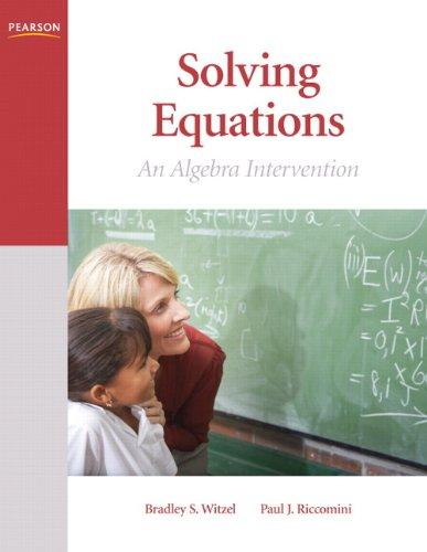 Solving Equations: An Algebra Intervention (Math Intervention Series)