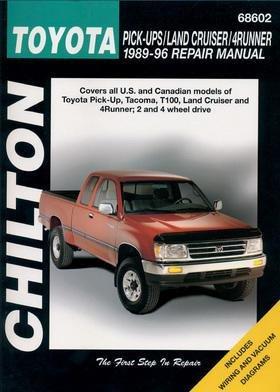 - Chilton Repair Manual 68602 for Toyota Trucks/Land Cruiser/4Runner 1989-1996