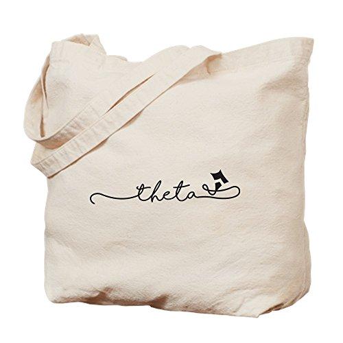 CafePress–Kappa Alpha Theta Script–Gamuza de bolsa de lona bolsa, bolsa de la compra