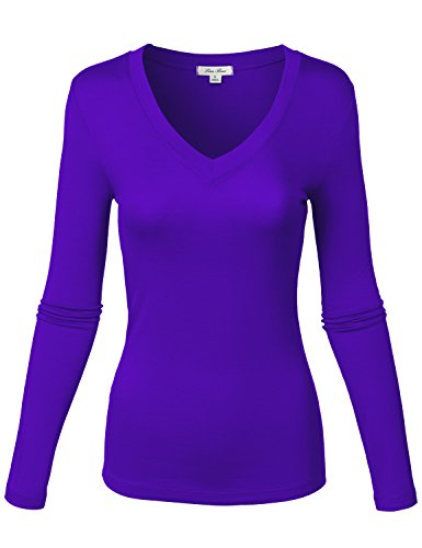 Slim Fit Lightweight Classic Soft Knit Shirt Tops ,143-bright Royal (Definition Fitted T-shirt)