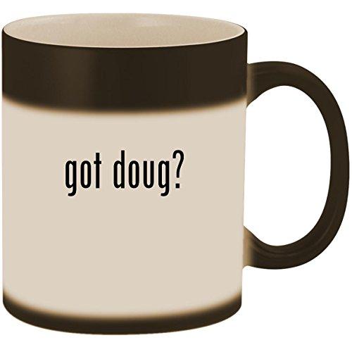 got doug? - 11oz Ceramic Color Changing Heat Sensitive Coffee Mug Cup, Matte -