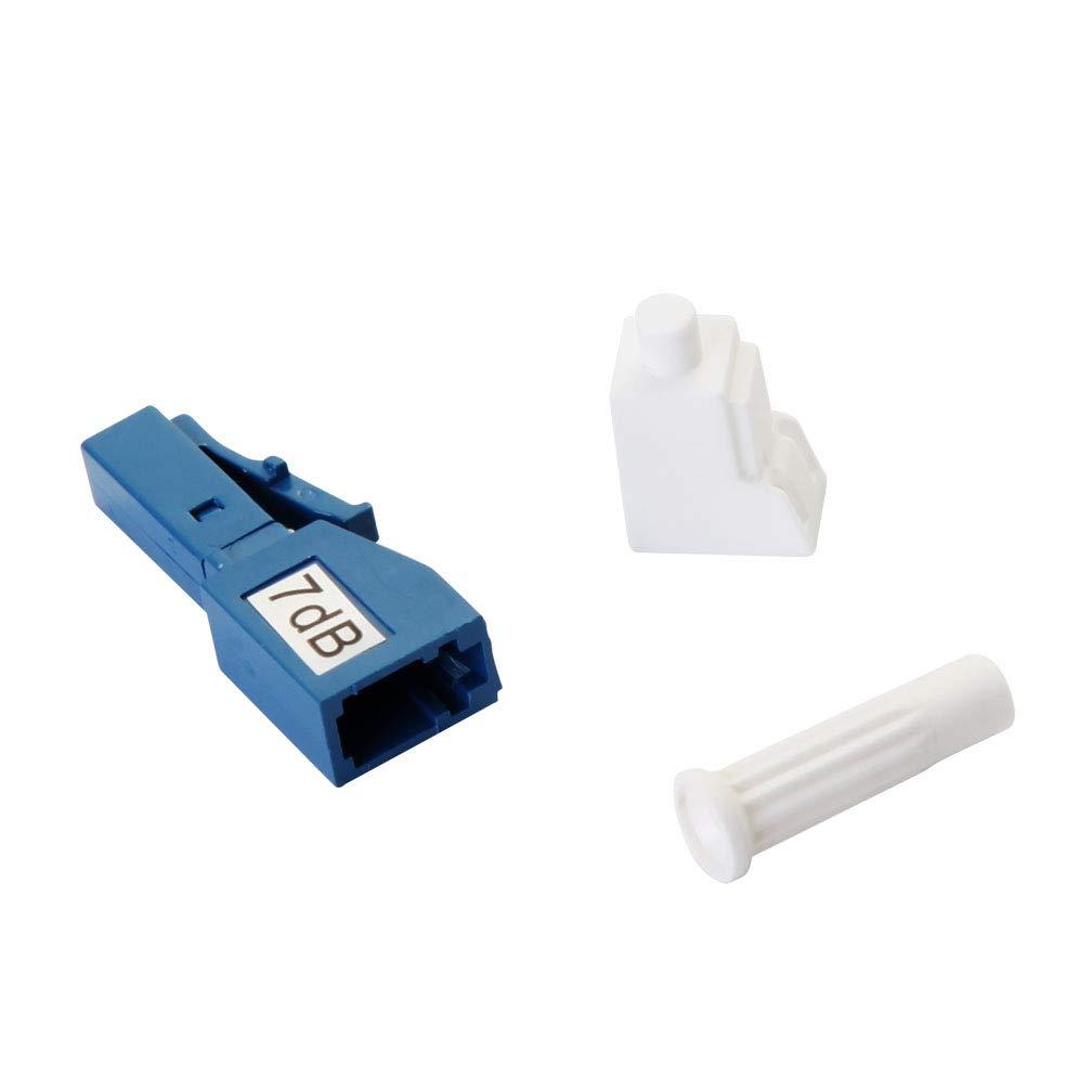 7dB 5dB Male//Female in-Line Attenuator Single-Mode Fixed dB Options: 3dB LC//UPC Fiber Optic Attenuator 7dB 10dB 2 Pack
