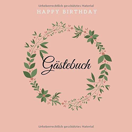 Happy Birthday Gästebuch Alles Gute Zum Geburtstag 200 S