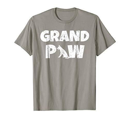German Shepherd Grand Paw T Shirt Dog Lover Grandpaw Grandpa