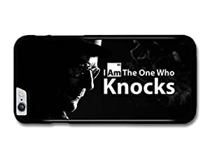 Breaking Bad Walter White I Am the One Who Knocks Quote Black Background carcasa de iPhone 6 Plus
