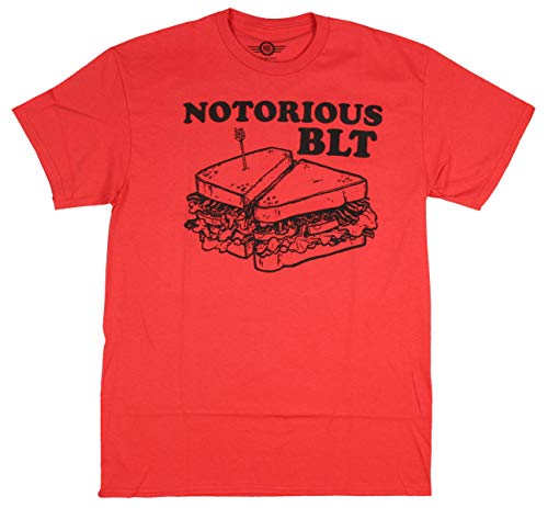 Notorious BLT Sandwich Shirt Men's Funny Humor T-Shirt (MD) Red