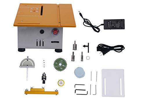 8milelake Multifunction Mini Electric Polisher Table Saw Grinder Cutting Saw Handmade Woodworking Bench Lathe