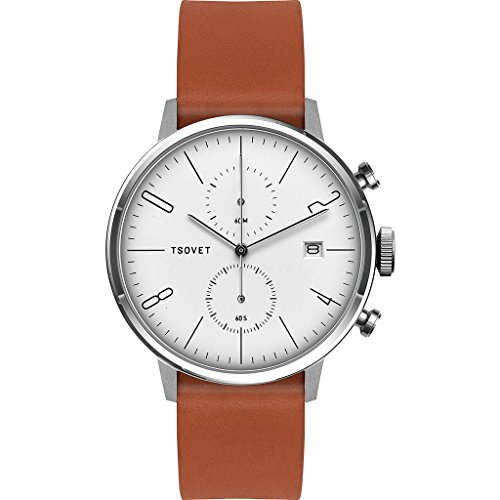 Tsovet-JPT-CC38-Analog-Quartz-StainlessWhite-w-BlackTan-Watch