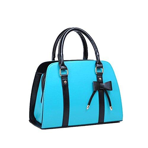 YEAH67886Lady donne classico moda vendita calda donne dolce Bowknot borsa tote & # xFF08; Blue & # XFF09;