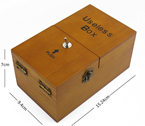 Willcomes Wooden Turns Itself Off Useless Box Leave Me