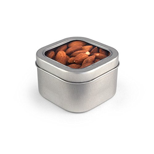 Almonds, Raw, Square Window Medium Tin 48ct/5.2oz by In-Room Plus, Inc.