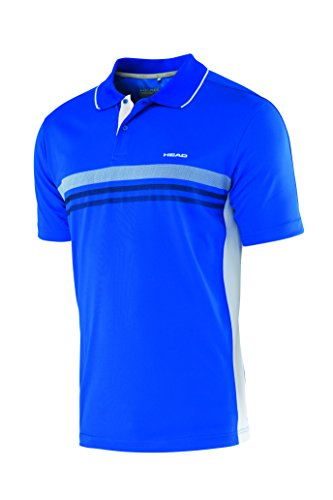 HEAD Oberkörper-Bekleidung Club Polo Shirt Technical Men, Blau, XL, 811655-BL