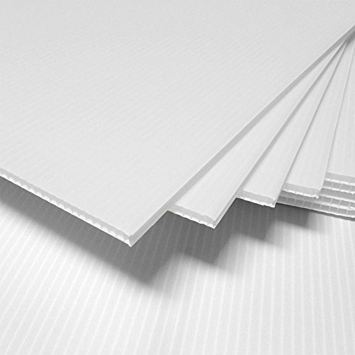 "Corrugated Plastic 24"" x 48"" 4mm White Blank Sign Sheets Coroplast Intepro"