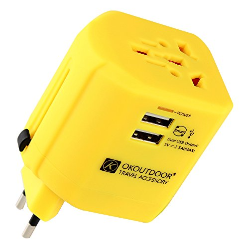 Travel Adapter International Power Adapter with2 USB Ports -