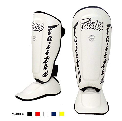 in Guards SP3 SP5 SP6 SP7 Shin Protection for Muay Thai MMA K1 (SP7 - White, Medium) ()