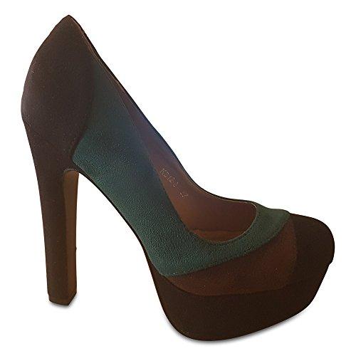Collection Black col Scarpe Green tacco donna KAPRIS Brown pxqdOPp