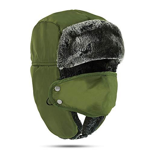 Winter Face Mask For Men – Russian Style Hat Ushanka, Trooper, Trapper Hats for Men and Women – Windproof Ski Mask