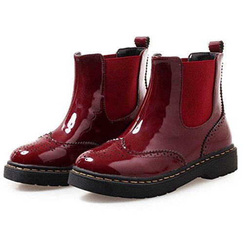 Ankle Red Melady High Chelsea Women Fashion Boots RwwxY6Iq