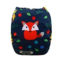 ALVABABY New Positioning and Printed Design Reuseable Washable Pocket Cloth D...