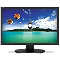 NEC Display PA242W-BK-SV 24.1 Widescreen LED Monitor, 16:10, 8ms, 1920x1200, 340 Nit, 1000:1, DVI/HDMI/VGA/USB/DisplayPort