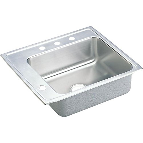 Elkay DRKR2220L4 Lustertone Classic Single Bowl Drop-in Stainless Steel Classroom Sink