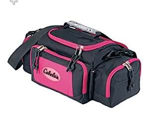Cabela 39 s ladies pink fishing utility bag with for Amazon fishing gear