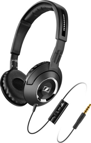 Headphones with Integrated Microphone for Smartphones, Black (Sennheiser Stereo Mic)