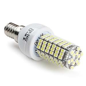E14 6.5W 120x3528 SMD 400LM 6000-6500K Natural White Light LED Corn Bulb (220-240V)