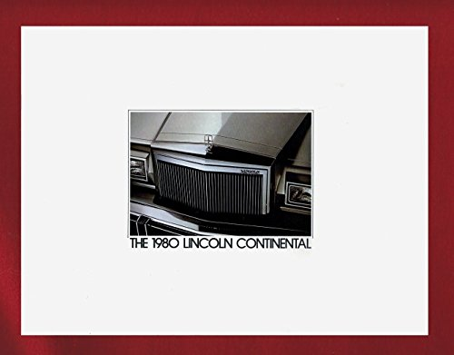 1980 LINCOLN CONTINENTAL PRESTIGE COLOR SALES BROCHURE Rev. 1-80 - USA - FANTASTIC ORIGINAL !!