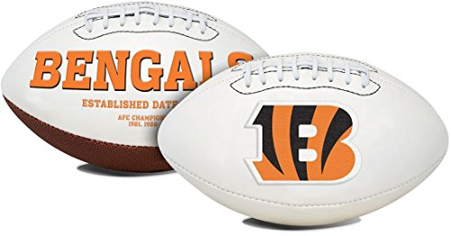 Bengals Cincinnati Pen (Jarden 1 Pc, Cincinnati Bengals Football Full Size Embroidered Signature Series, Embroidered Primary Logo & Embossed Team History, Autograph Pen Included, For Autograph Shows & Game Day Events)