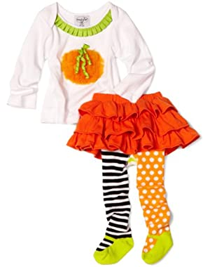 Baby Girls' Pumpkin Skirt Set
