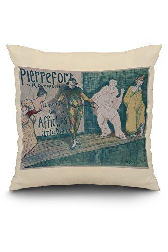 (Pierrefort 12 R Bonaparte - Dessins Tableaux Affiches Artistiques Poster (artist: Ibels) France (20x20 Spun Polyester Pillow, White Border))