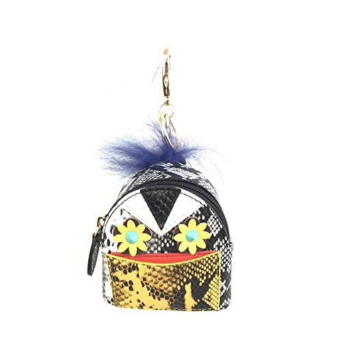 Mini Monster Backpack Purse Pendant PU Snake Leather Women Keychain