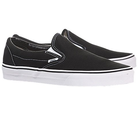 Vans Classic Slip On Shoes 10 B(M) US Women/8.5 D(M) US Black