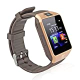 Corelink DZ09 Bluetooth Smart Watch Anti-lost Touch Screen Wrist Wrap Watch Phone Pedometer with Camera for Android Phone (Brown)