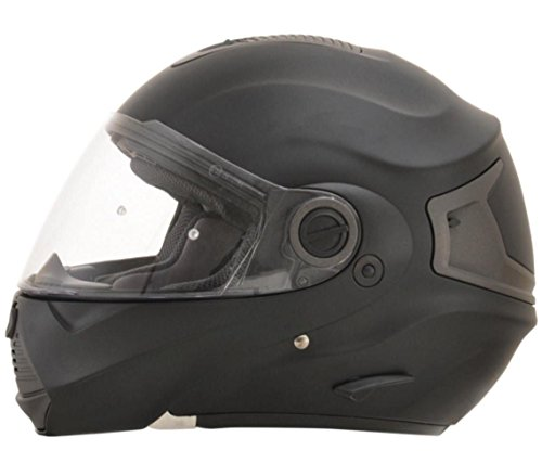 AFX FX-36 Unisex-Adult Flip-Up-Helmet-Style Modular Helmet (Flat Black, Medium)