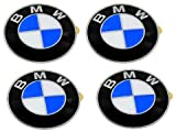 oem emblem - BMW Wheel Center Cap Emblems (4) OEM 64.5mm E46 E60 E90 E92; 36136767550