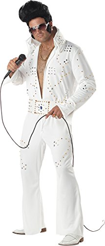 [California Costumes Men's Rock Legend,White,X-Large Costume] (White Elvis Costumes)