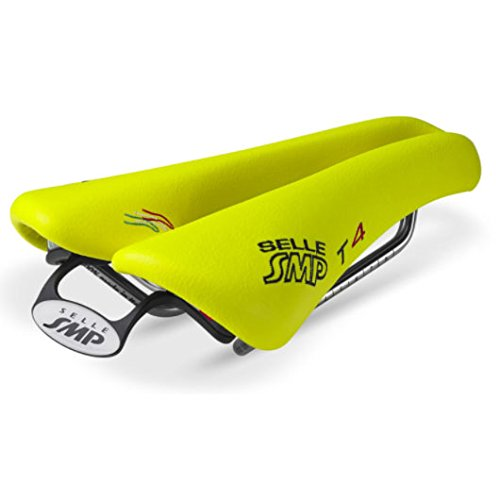 NEW Selle SMP TRIATHLON Bicycle Saddle Seat - T4 Fluorescent Yellow. . . Made in Italy by Selle SMP