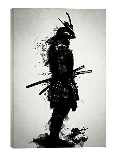 "Epic Graffiti ""Armored Samurai\"" by Nicklas Gustafsson, Giclee Canvas Wall Art, 18\""x26\"""